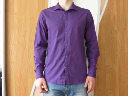Фіолетова приталина сорочка. Львов. фото 1