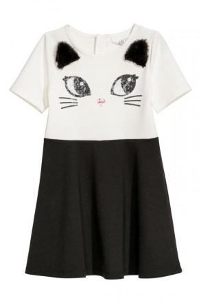 Нарядное платье с коротким рукавом. Производитель H&M, Германия. Стильная и очеь. Винница, Винницкая область. фото 2