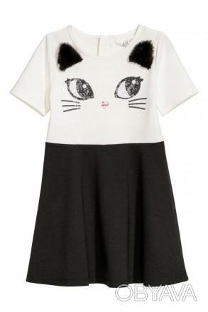 Нарядное платье с коротким рукавом. Производитель H&M, Германия. Стильная и очеь. Винница, Винницкая область. фото 1