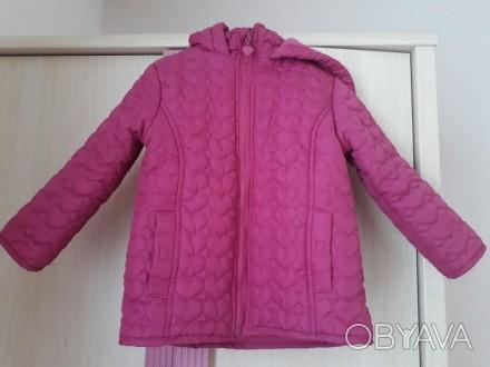 Куртка деми, красивый насыщенный цвет...тонкий слой утеплителя. Размер указан 98. Кропивницкий, Кировоградская область. фото 1