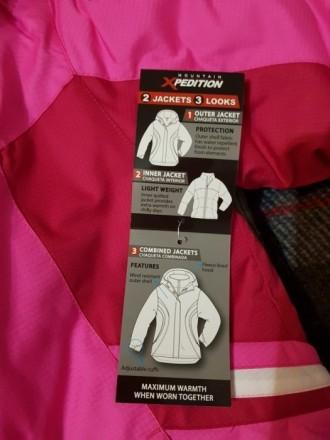 Куртка для девочки 3в1. Можно использовать как утепленную ветровку, отдельно как. Киев, Киевская область. фото 5