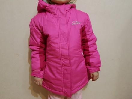 Куртка для девочки 3в1. Можно использовать как утепленную ветровку, отдельно как. Киев, Киевская область. фото 2