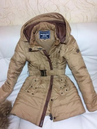 Детская зимняя куртка-пуховик DeSalitto Италия на рост 140-150 (указан 150, но п. Киев, Киевская область. фото 4