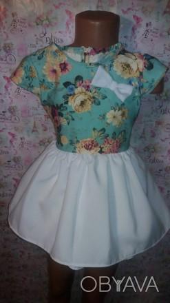 платье на1-2 года,длина до талии26,длина юбки25,рост90 размер28. Кривой Рог, Днепропетровская область. фото 1