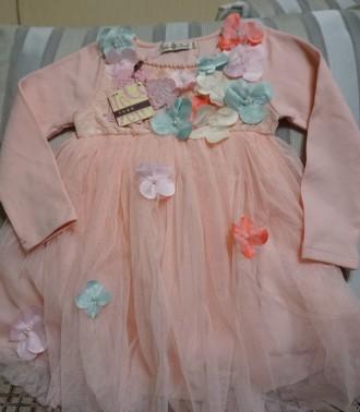 Платье  написано на 120 см, но оно маломерка. Длина платья  53 см, длина рукав. Киев, Киевская область. фото 2