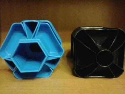 """Канцелярские стаканы """"вертушка"""" (Taiwan). Цвет: черный, голубой. Отличное состоя. Николаев, Николаевская область. фото 3"""