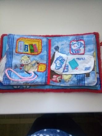 Мягкая книжечка-развивайка для малыша, яркая и интересная, малыш сам сможет расс. Днепр, Днепропетровская область. фото 5