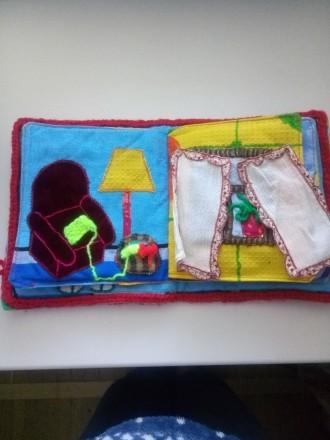 Мягкая книжечка-развивайка для малыша, яркая и интересная, малыш сам сможет расс. Днепр, Днепропетровская область. фото 4