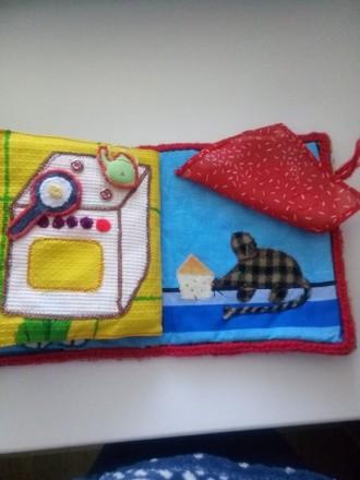 Мягкая книжечка-развивайка для малыша, яркая и интересная, малыш сам сможет расс. Днепр, Днепропетровская область. фото 7