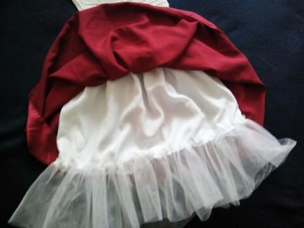 Продам красивое нарядное платье ручной работы. Комбинированное платье - вязанный. Днепр, Днепропетровская область. фото 7