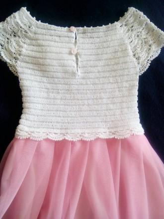 Продам красивое нарядное платье ручной работы. Комбинированное платье - вязанный. Днепр, Днепропетровская область. фото 5
