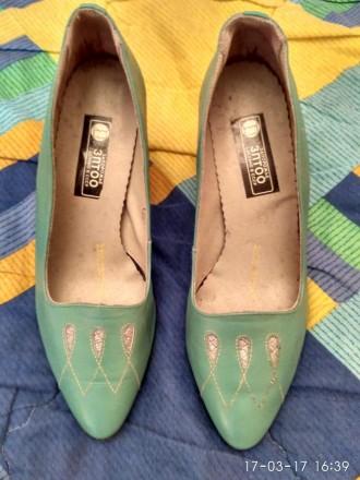 Новые кожаные туфли на каблуке. Николаев. фото 1