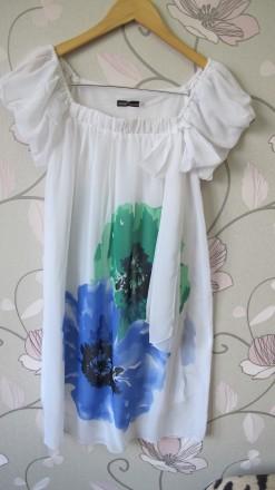 Летнее шифоновое платье Размер 44 Oggi Colection. Киев. фото 1