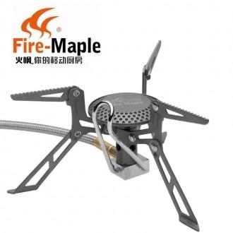 Титановий газовий пальник. Титановая газовая горелка Fire-Maple FMS-117H титан. Львов. фото 1