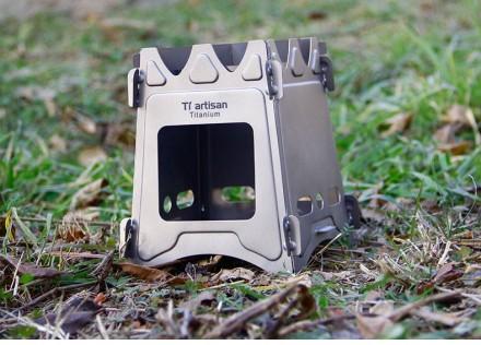 Титановая щепочница из титана Tiartisan. Титанова щепочниця, печка на дрова.. Львов. фото 1