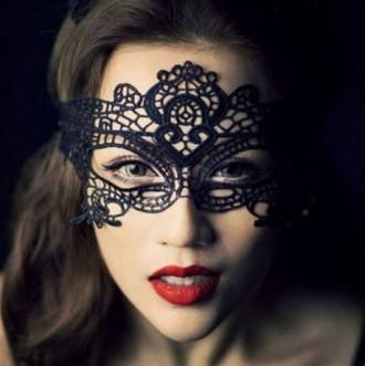 Сексуальная черная кружевная маска. Васильевка. фото 1