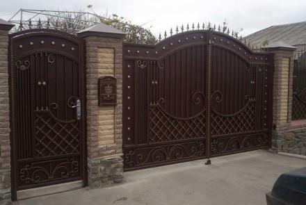 Ворота металлические. Кривой Рог. фото 1