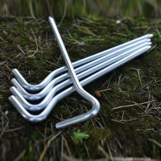 алюмінієві кілки для наметів. алюминиевые колышки для палаток 18см. 14грам. 7a6665e523482