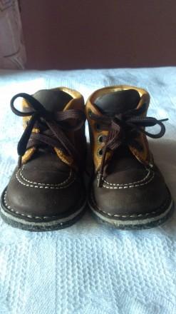 Кожаные ботинки р.23. Запорожье. фото 1
