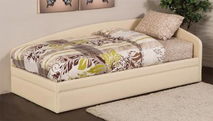 Детская кровать диван с нишей Джуниор, детская мягкая кровать с подъемным механи. Киев. фото 1