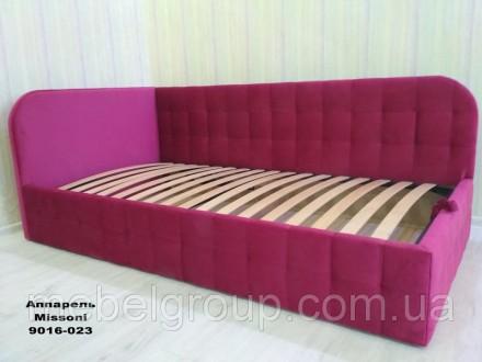 Детская подросковая мягкая кровать диван Флора с подъемным механизм. Киев. фото 1