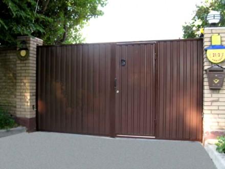 Наше предприятие изготовит ворота с профлиста любой сложности.Выезжаем на замер . Кривой Рог, Днепропетровская область. фото 2