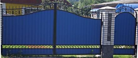 Наше предприятие изготовит ворота с профлиста любой сложности.Выезжаем на замер . Кривой Рог, Днепропетровская область. фото 4