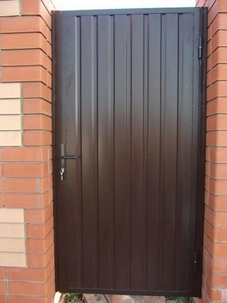 Ворота,калитка с профлиста. Кривой Рог. фото 1