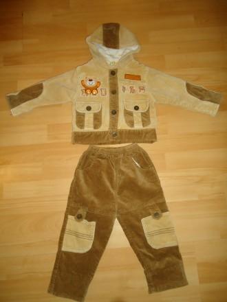 Красивый качественный теплый костюм мальчику: куртка и брюки р. 74-86. Яворов. фото 1