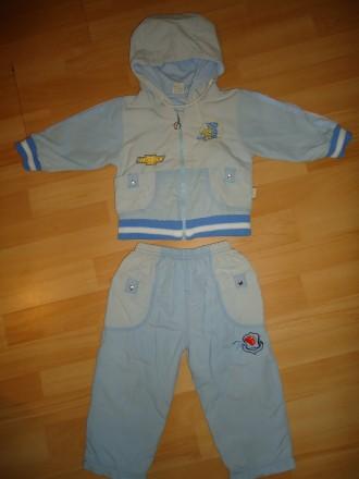 Классный костюм для мальчика на осень/весну: куртка ветровка и штаны р.80. Яворов. фото 1
