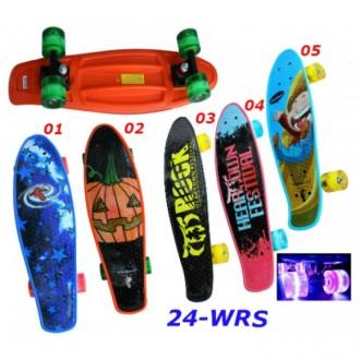 Скейт Penny Print 24-WRS светящиеся колеса пенни 61 см cruiser fish skate board. Киев. фото 1