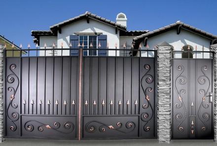 Ворота кованые,профлист. Кривой Рог. фото 1