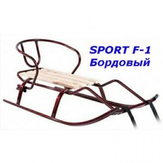 Санки sport F-1 детские со спинкой. Киев. фото 1