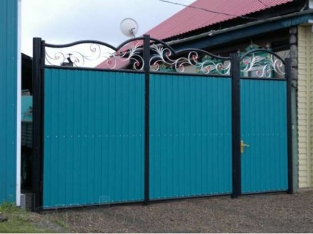 Ворота с профлиста,Кривой Рог. Кривой Рог. фото 1