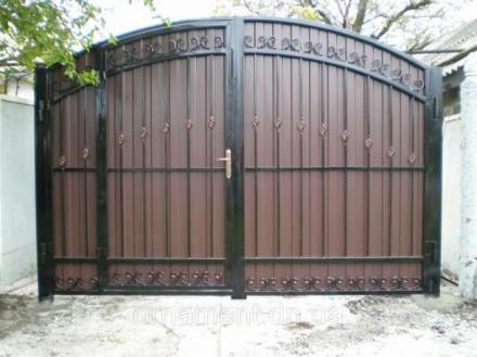 Ворота с калиткой,профлист. Кривой Рог. фото 1