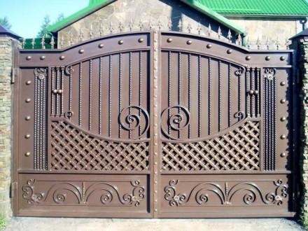 Металлические кованые ворота. Кривой Рог. фото 1