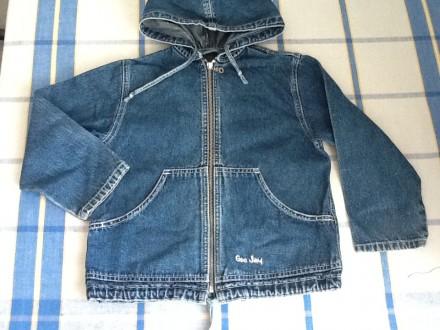 Продам джинсовую куртку ветровку пиджак Gee Jay на змейке с капюшоном. Харьков. фото 1
