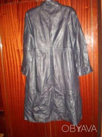 Кожаный женский плащ Размер 48 Длина 108 см, рукав реглан , длина рукава 56 см, . Чернигов, Черниговская область. фото 1