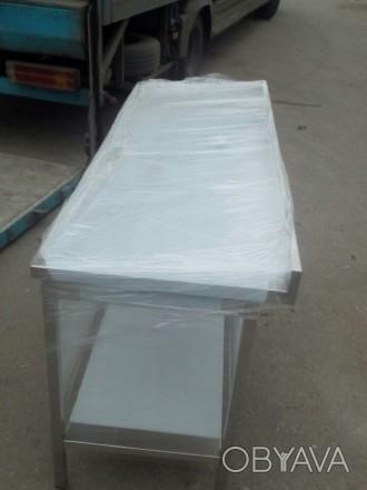 Нейтральное оборудование для кафе столы с полками по цене б у  из нержавейки