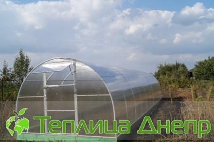 Современная арочная теплица из поликарбоната. Днепр. фото 1