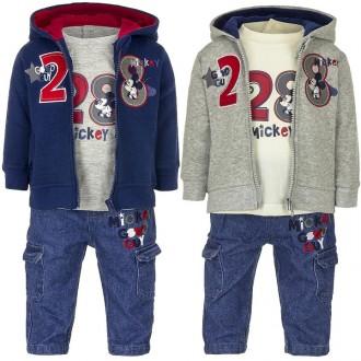 Костюм тройка, мальчику, кофта с капюшоном, реглан, джинсы, Di. Винница. фото 1