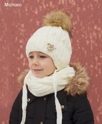 шапка зима для девочки. Бахмут (Артемовск). фото 1