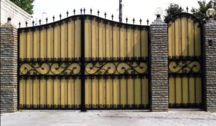 Кованые ворота,профлист. Кривой Рог. фото 1