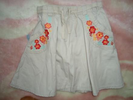 Красивая стильная юбка H&M для девочки с вышивкой р.122 на 6-7 лет. Яворов. фото 1
