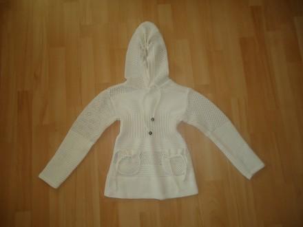 Красивая теплая туничка свитер для девочки р.98-104 кардиган. Яворов. фото 1
