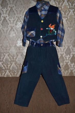 Крутой костюмчик - троечка ( Турция ) для юного джентльмена 1-2-х л. Киев. фото 1