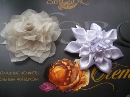 Заколка, брошь, резинка для волос, серьги, ручная работа, handmade. Днепр. фото 1