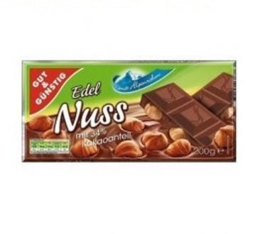 Шоколад Edel Nuss G&G 200г. ОПТ.. Тернополь. фото 1