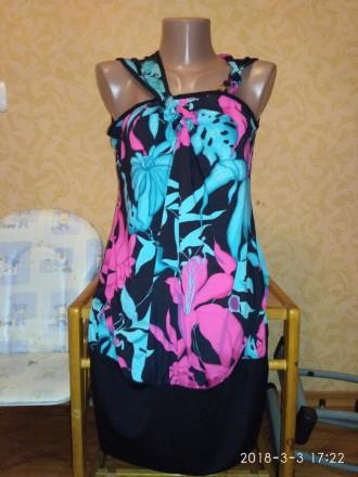 Новое летнее платье-туника. Размер 40.. Николаев. фото 1