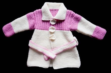 Пальто вязаное на девочку. Фастов. фото 1